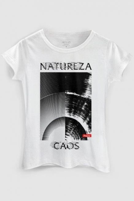 Camiseta Feminina Fresno Natureza Caos Texture
