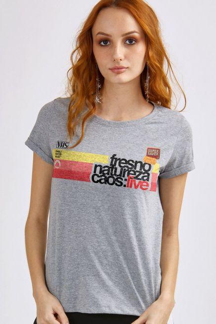 Camiseta Feminina Mescla Fresno Natureza Caos: Live
