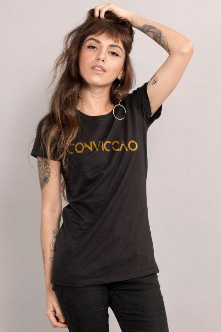 Camiseta Feminina Preta Fresno Convicção