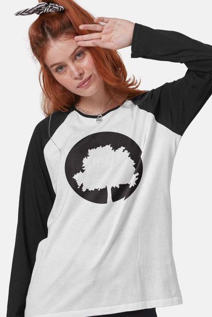 Camiseta Manga Longa Feminina Fresno Logo Árvore