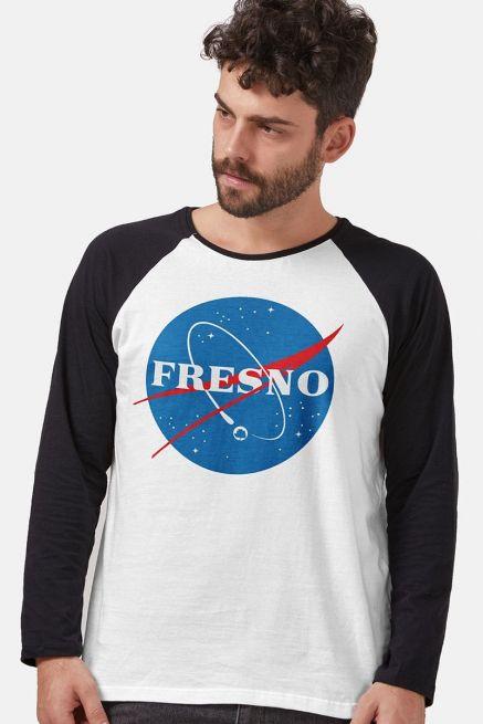 Camiseta Manga Longa Masculina Fresno Programa Espacial