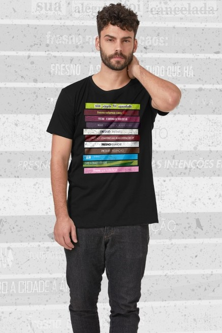 Camiseta Masculina Fresno Discografia