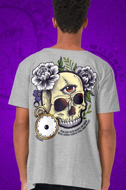 Camiseta Masculina Fresno Milonga Caveira Colors