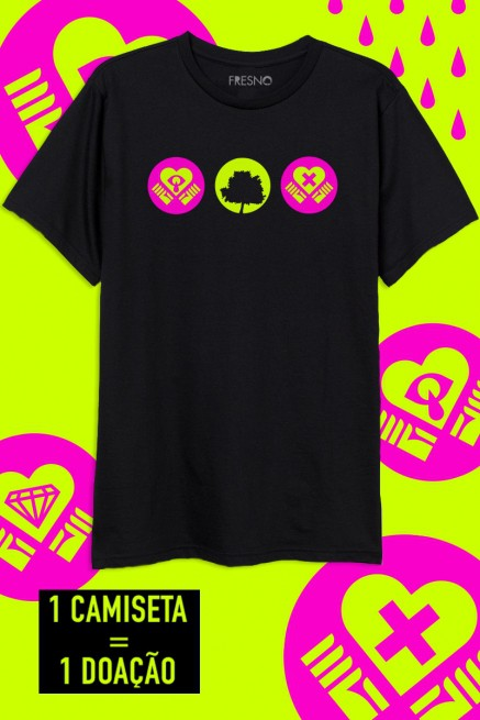 Camiseta Masculina Fresno QuarentEMO Ícones