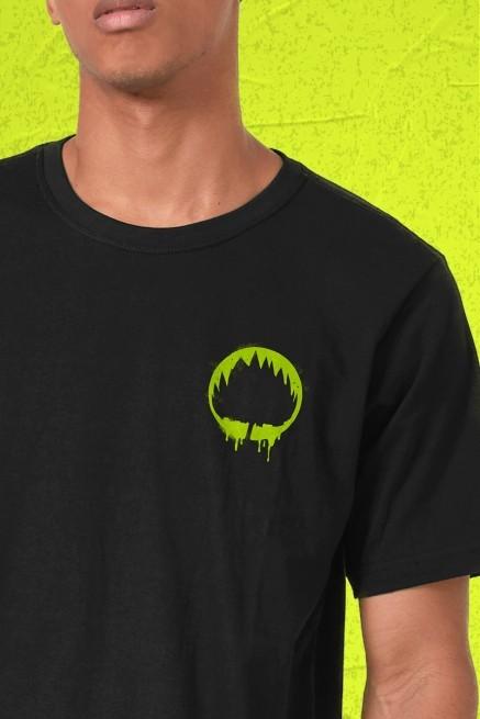Camiseta Masculina Fresno Sua Alegria Foi Cancelada Logo Árvore