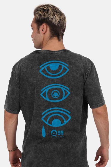 Camiseta Masculina Marmorizada Fresno 20 Anos Ciano Olhos