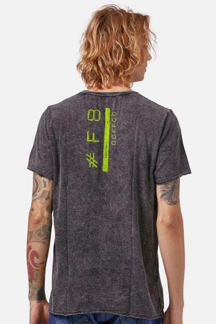 Camiseta Masculina Marmorizada Fresno Sua Alegria Foi Cancelada #F8