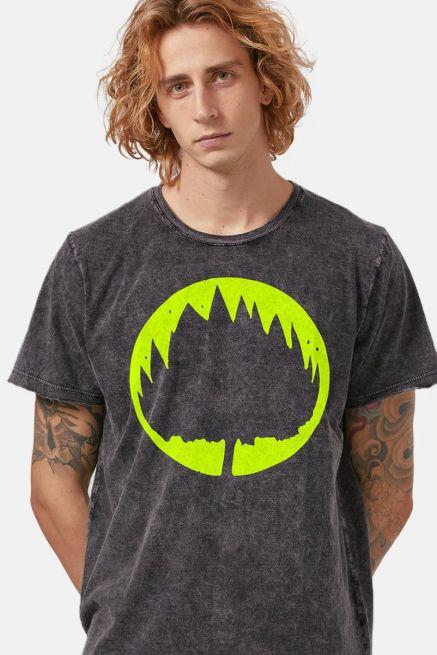 Camiseta Masculina Marmorizada Fresno Sua Alegria Foi Cancelada Logo