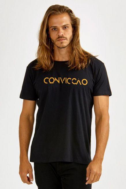 Camiseta Masculina Preta Fresno Convicção
