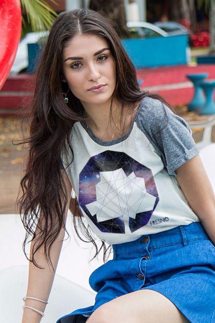 Camiseta Raglan Feminina Fresno Logo Galáxias