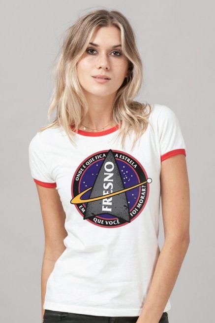 Camiseta Ringer Feminina Fresno Discovery