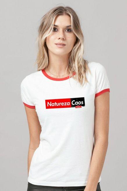 Camiseta Ringer Feminina Fresno Natureza Caos
