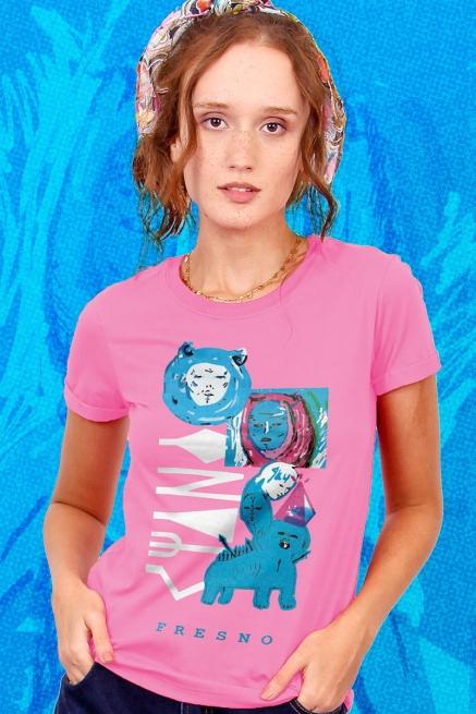Combo Feminino Fresno Ciano 15 Anos - Cada Poça dessa Rua tem um Pouco de Minhas Lágrimas - Camiseta + Caneca