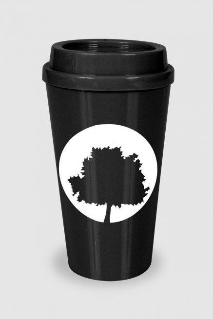 Copo Bucks Fresno Preto Logo Árvore
