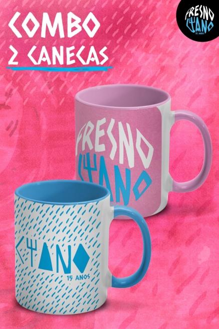 Kit 2 Canecas Fresno Ciano 15 Anos