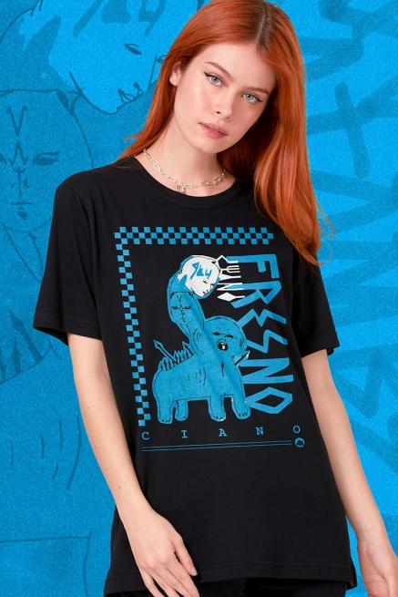 T-shirt Feminina Fresno Ciano 15 Anos