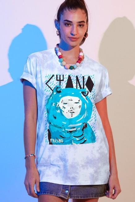T-shirt Feminina Fresno Ciano