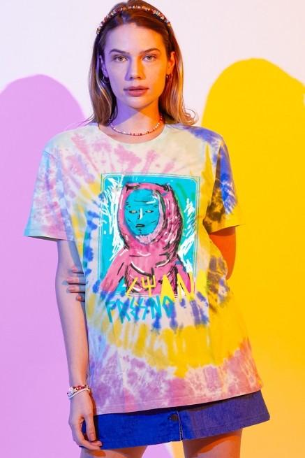 T-shirt Feminina Fresno Ciano Colors