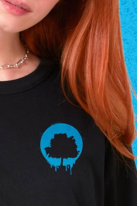 T-Shirt Feminina Fresno Ciano Logo Arvore