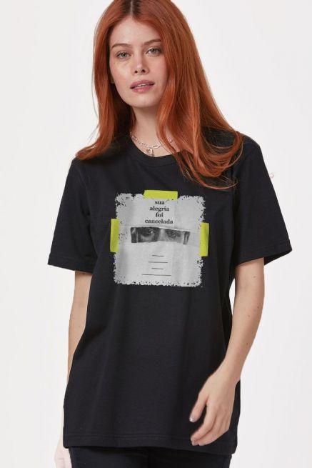 T-Shirt Feminina Fresno Sua Alegria Foi Cancelada