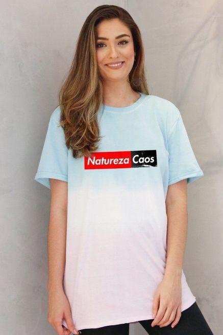 T-Shirt Tie Dye Feminina Fresno Natureza Caos Colors