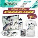 Combo Fresno Infinito - CD Autografado + Button + Adesivo + Camiseta + Squeeze + Caneca Branca