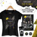 Combo Feminino AUTOGRAFADO Fresno 15 Anos Camiseta + Copo + Buttons + Poster