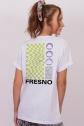 T-shirt Feminina Fresno Logo Quadriculado
