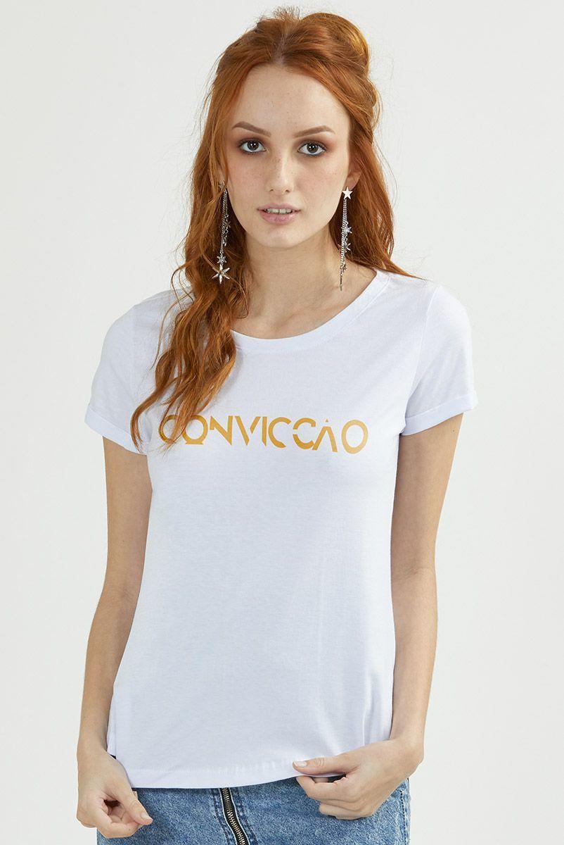 Camiseta Feminina Branca Fresno Convicção