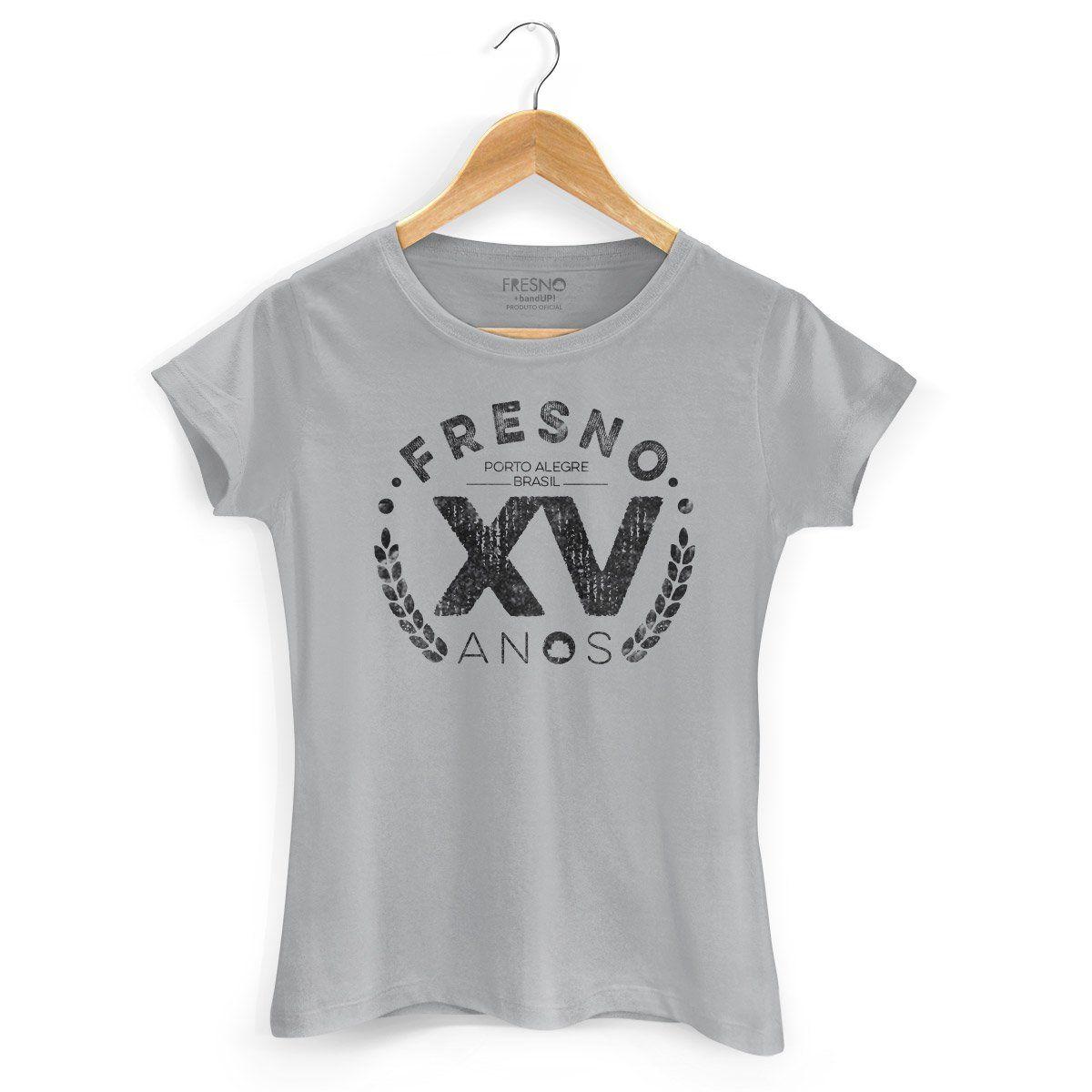 Camiseta Feminina Fresno 15 Anos Gray
