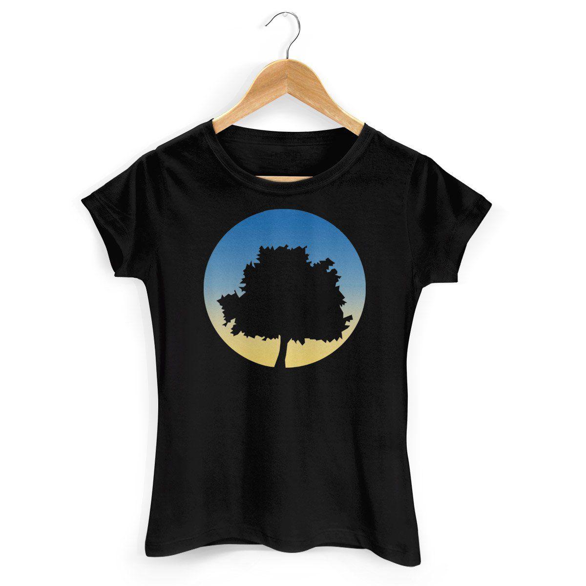 Camiseta Feminina Fresno - Árvore Preta