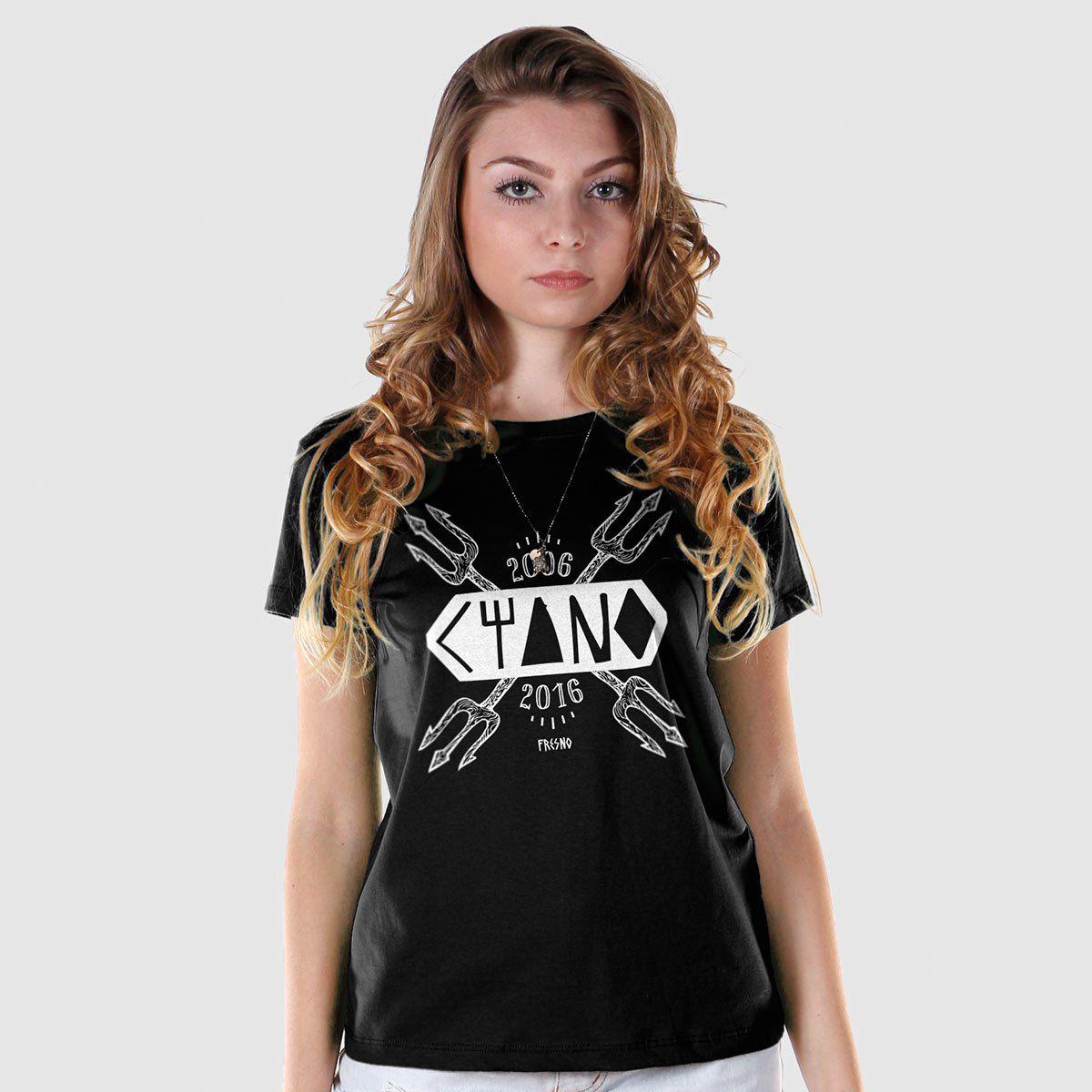 Camiseta Feminina Fresno Ciano 10 Anos