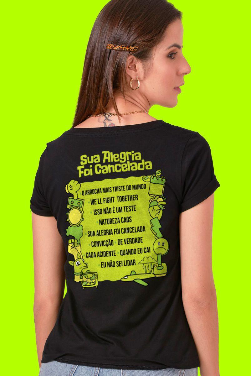 Camiseta Feminina Fresno Festival de Música Sua Alegria foi Cancelada