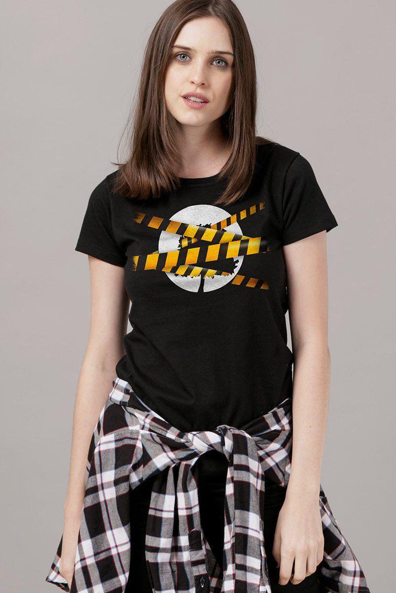 Camiseta Feminina Fresno Logo Stripes