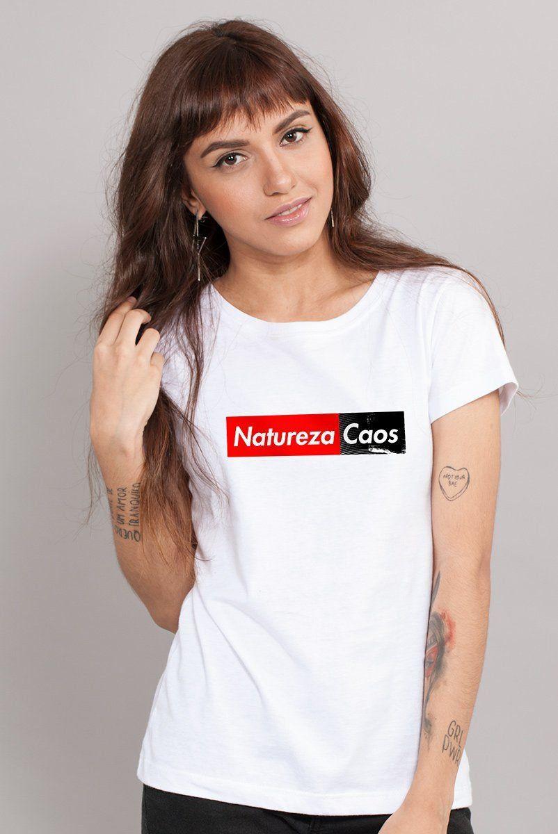 Camiseta Feminina Fresno Natureza Caos White