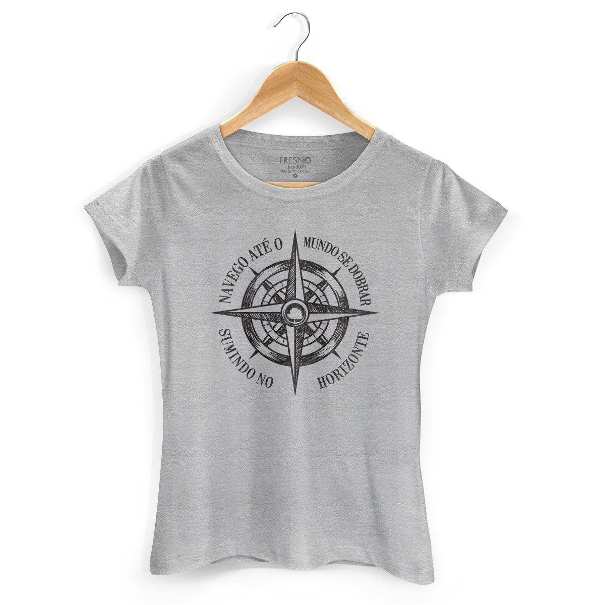 Camiseta Feminina Fresno Navego Até o Mundo se Dobrar