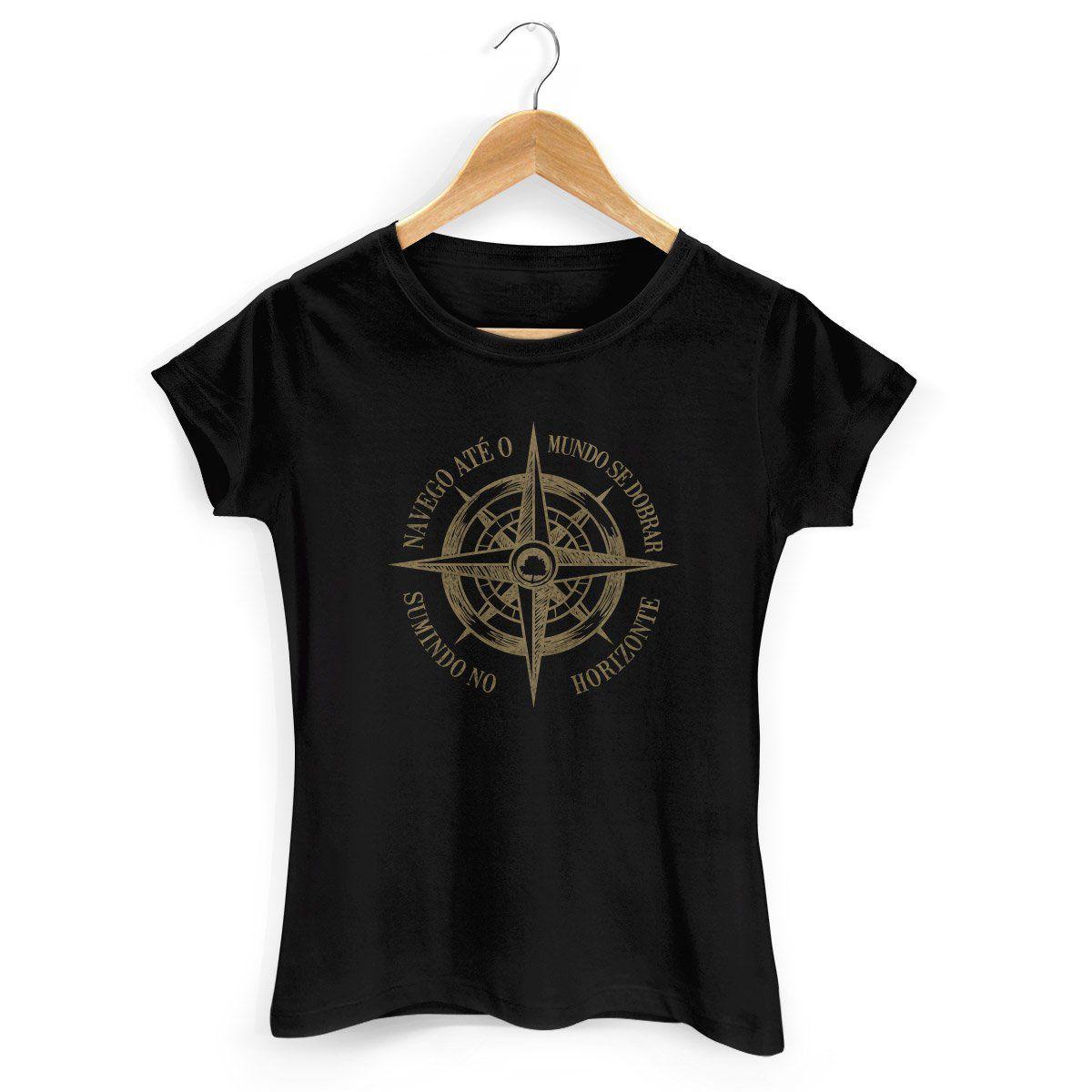 Camiseta Feminina Fresno - Navego Até o Mundo se Dobrar 2
