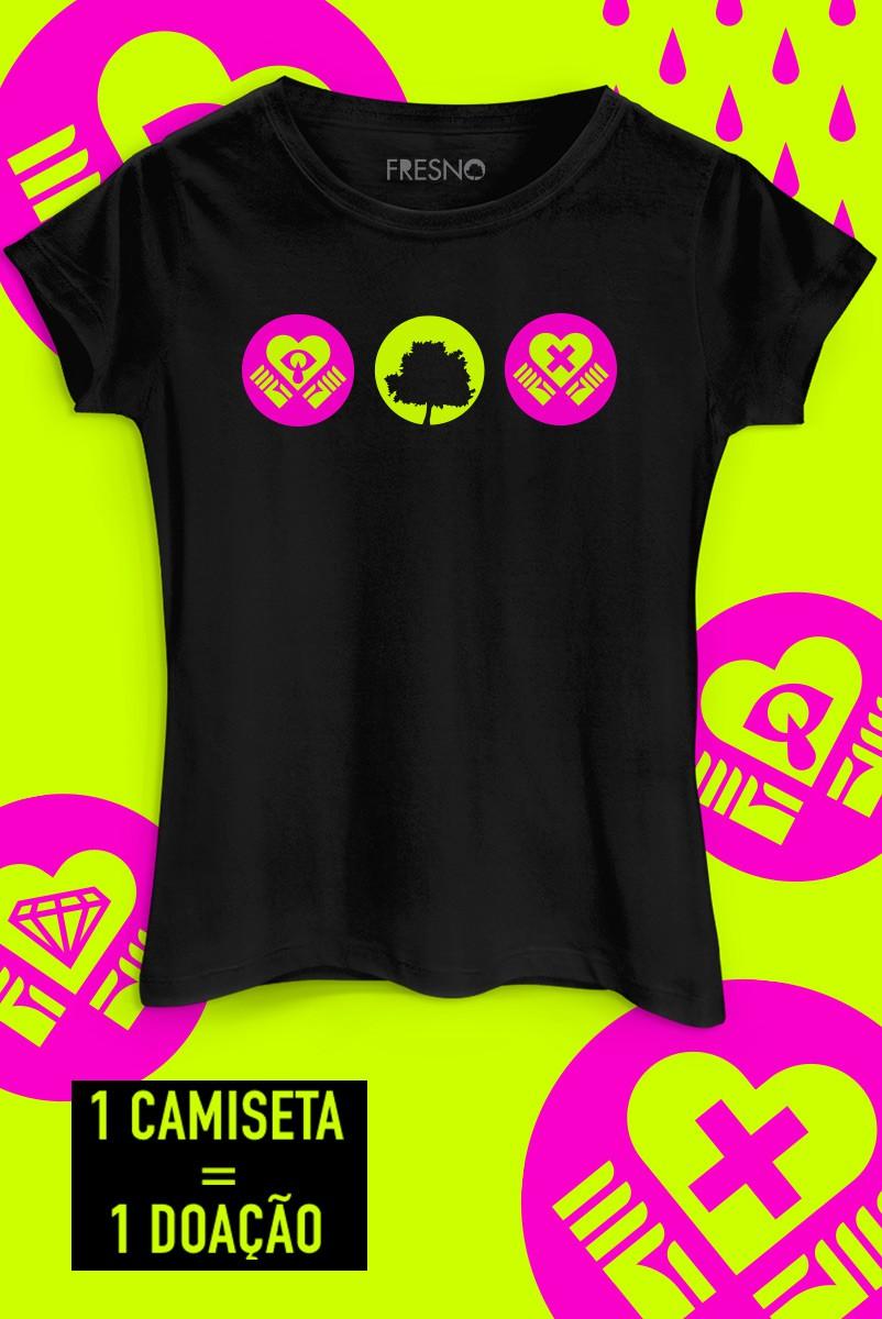 Camiseta Feminina Fresno QuarentEMO Ícones