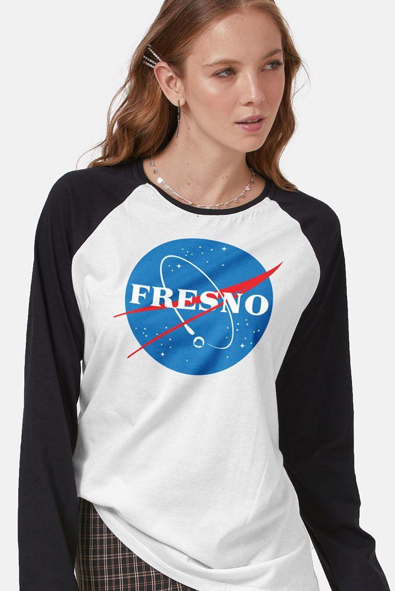 Camiseta Manga Longa Feminina Fresno Programa Espacial