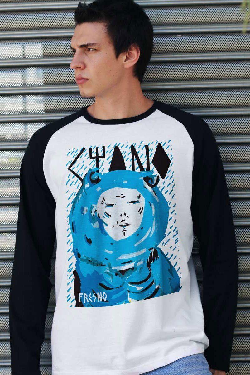 Camiseta Manga Longa Masculina Fresno Capa Ciano