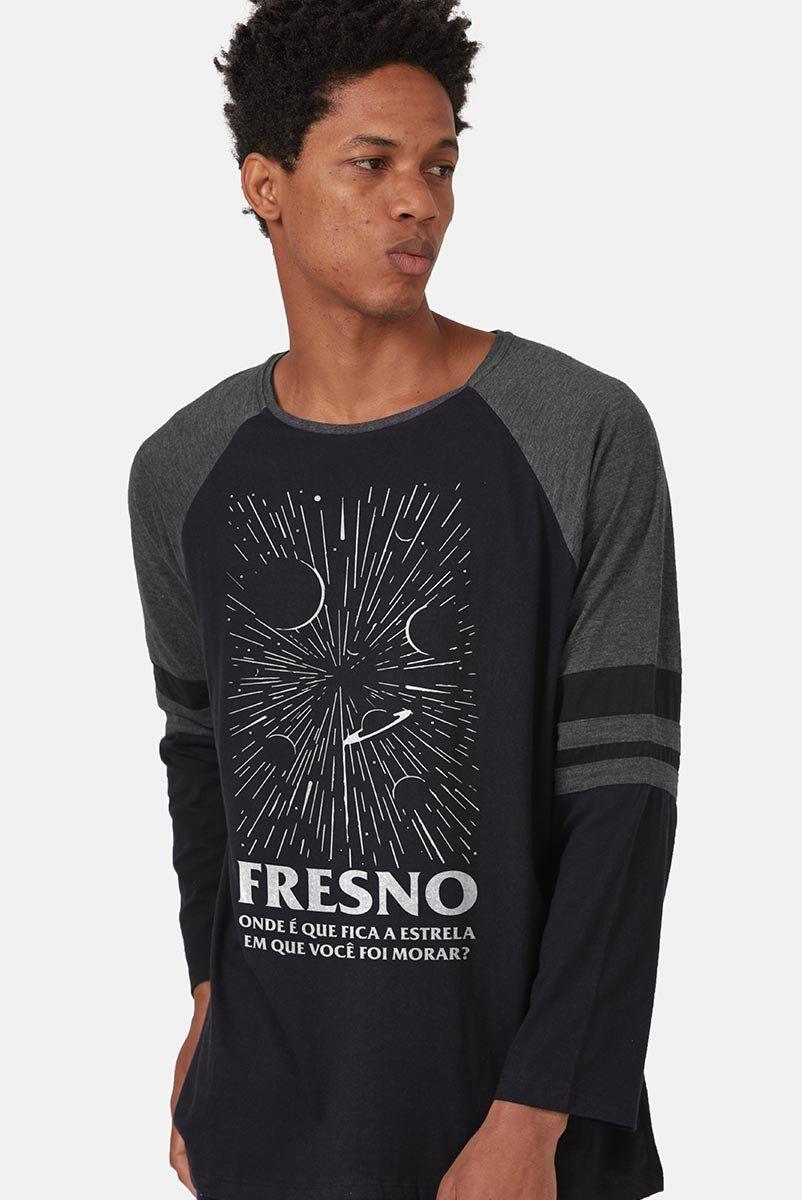 Camiseta Manga Longa Masculina Fresno Onde Fica a Estrela