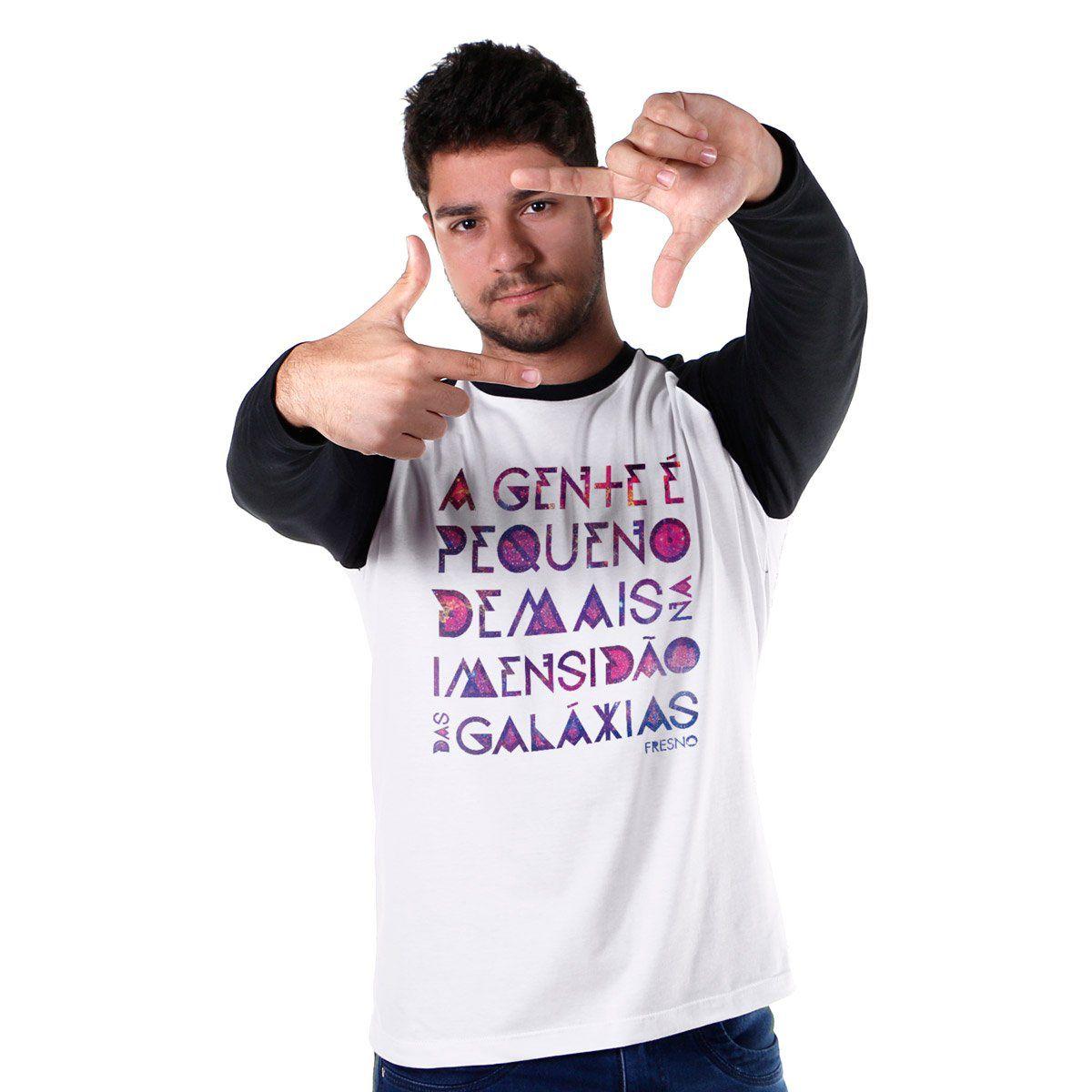 Camiseta Manga Longa Raglan Masculina Fresno Galáxias