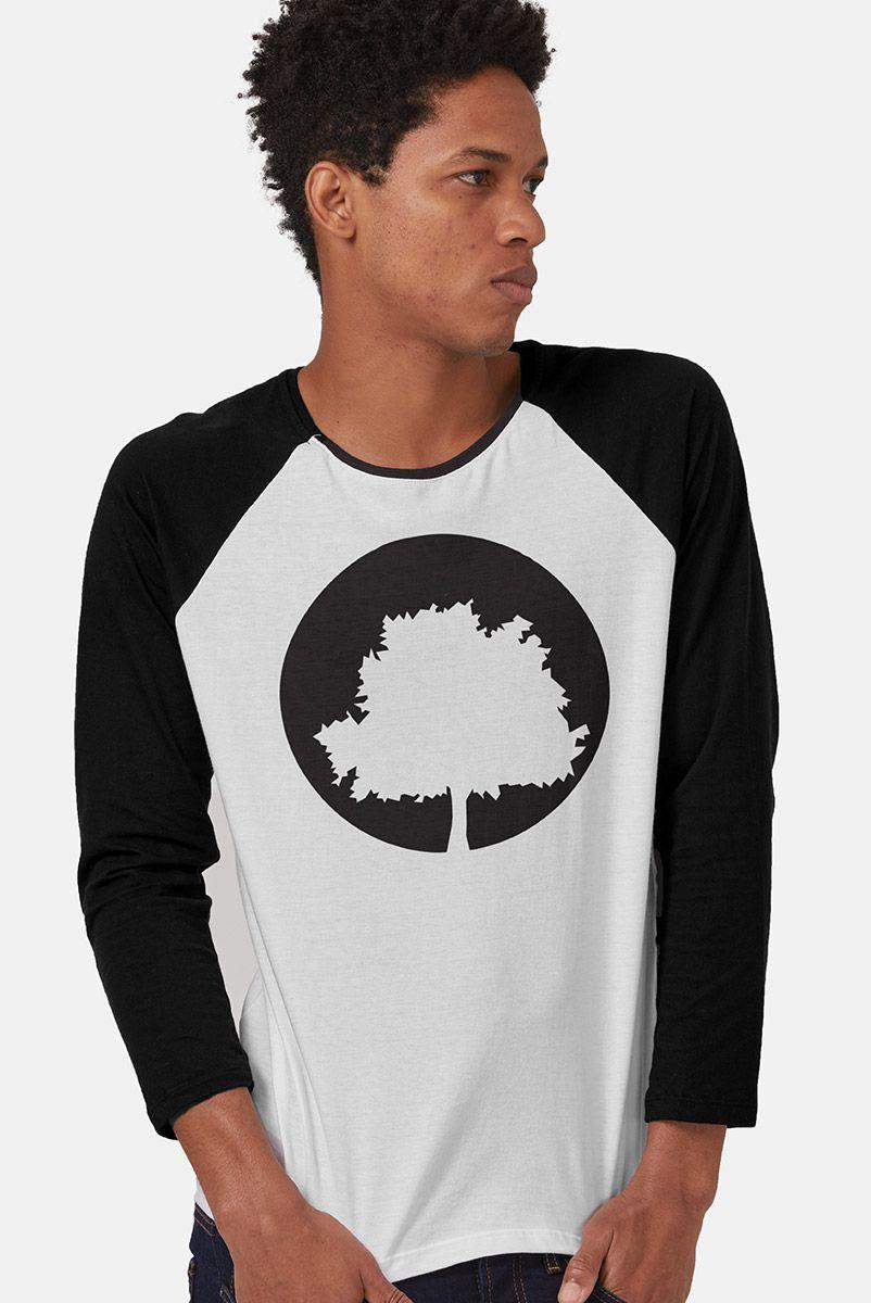 Camiseta Manga Longa Masculina Fresno Logo Árvore