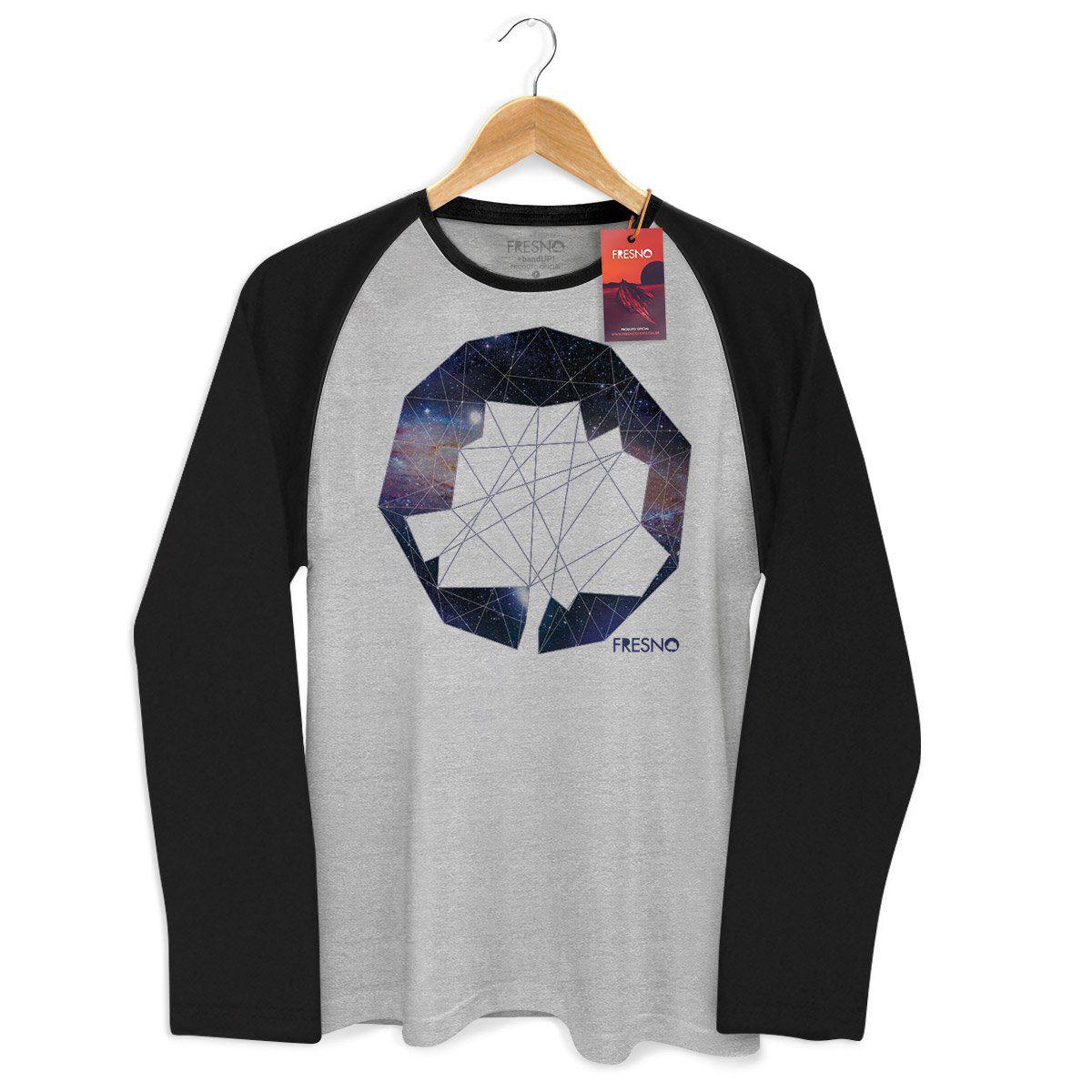 Camiseta Manga Longa Raglan Masculina Fresno Logo Galáxias