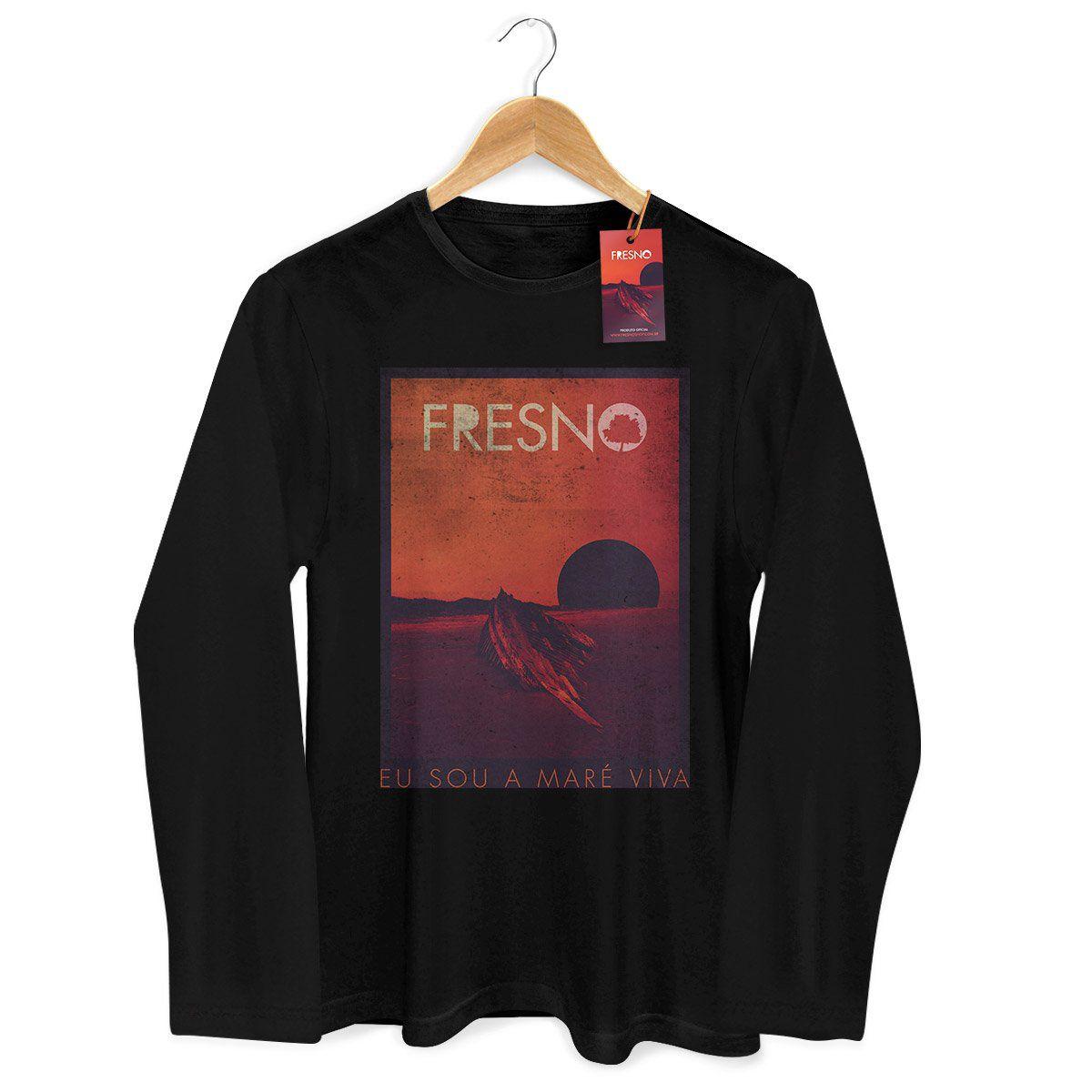 Camiseta Masculina de Manga Longa Fresno Capa Black