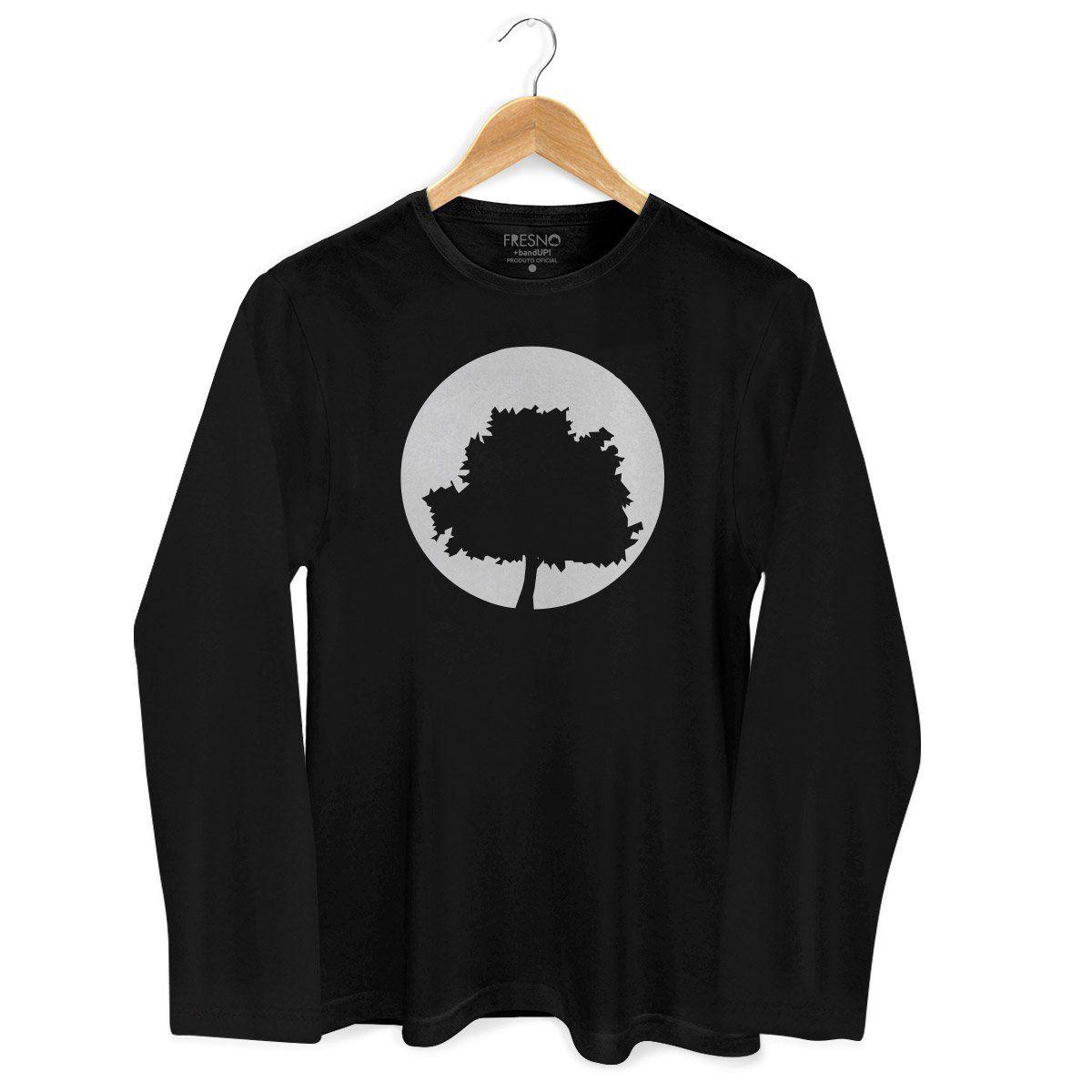 Camiseta Masculina de Manga Longa Fresno Logo Árvore