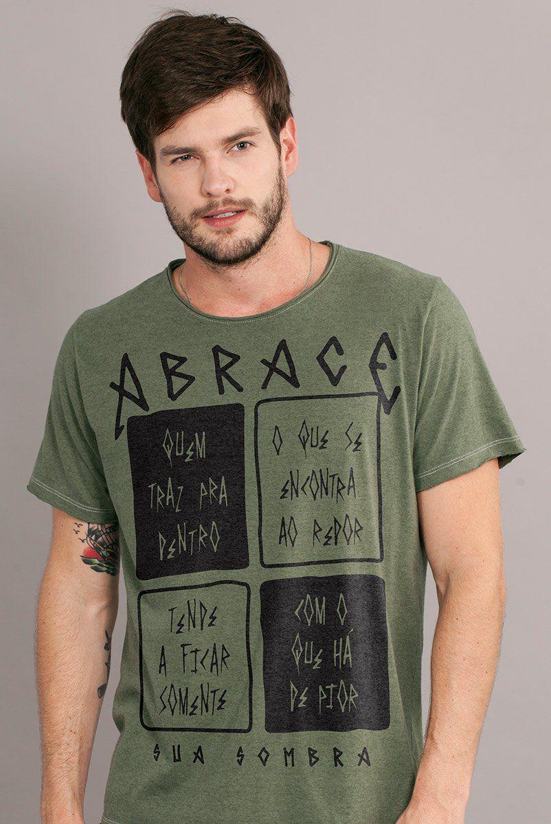 Camiseta Masculina Fresno Abrace Sua Sombra
