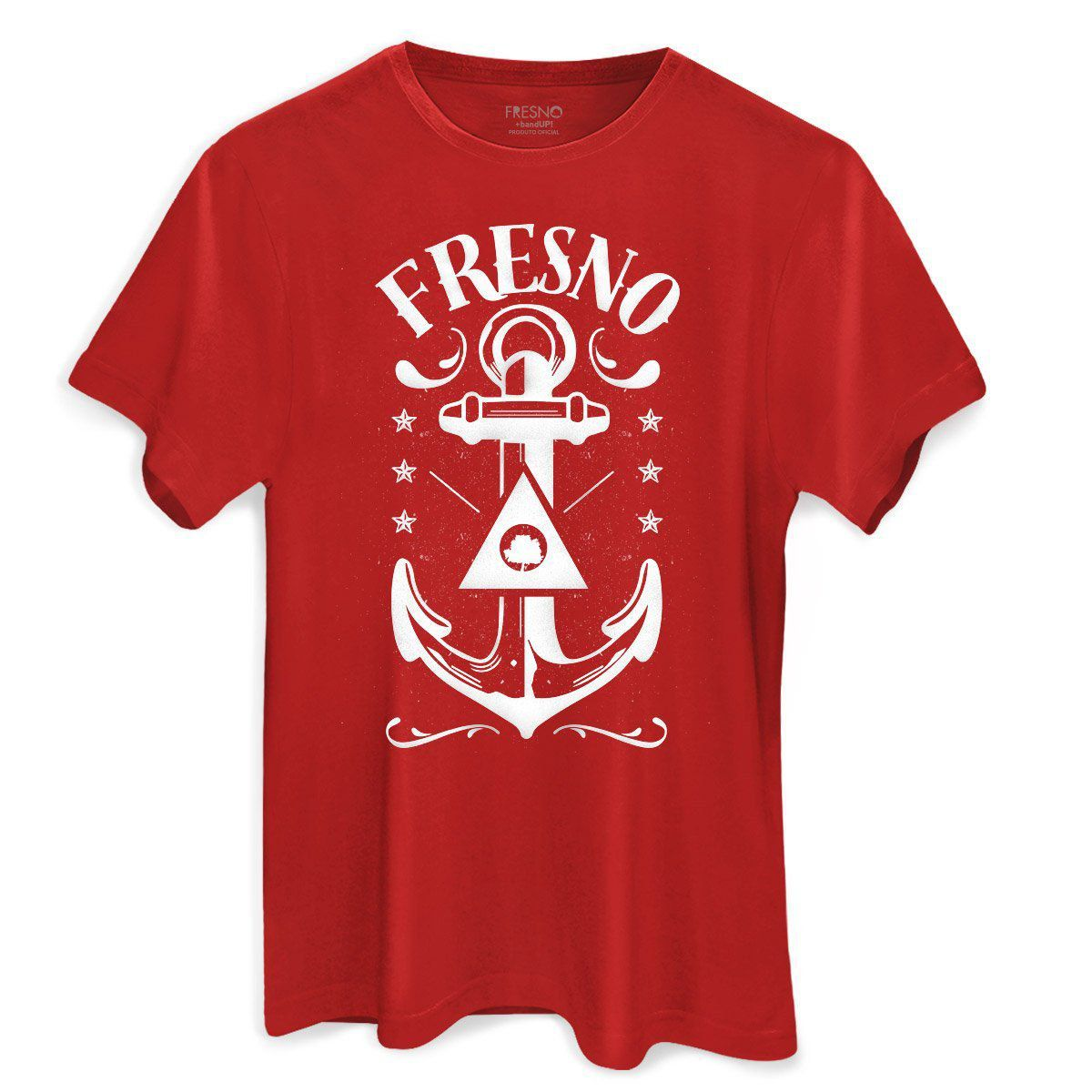 Camiseta Masculina Fresno Anchor Red