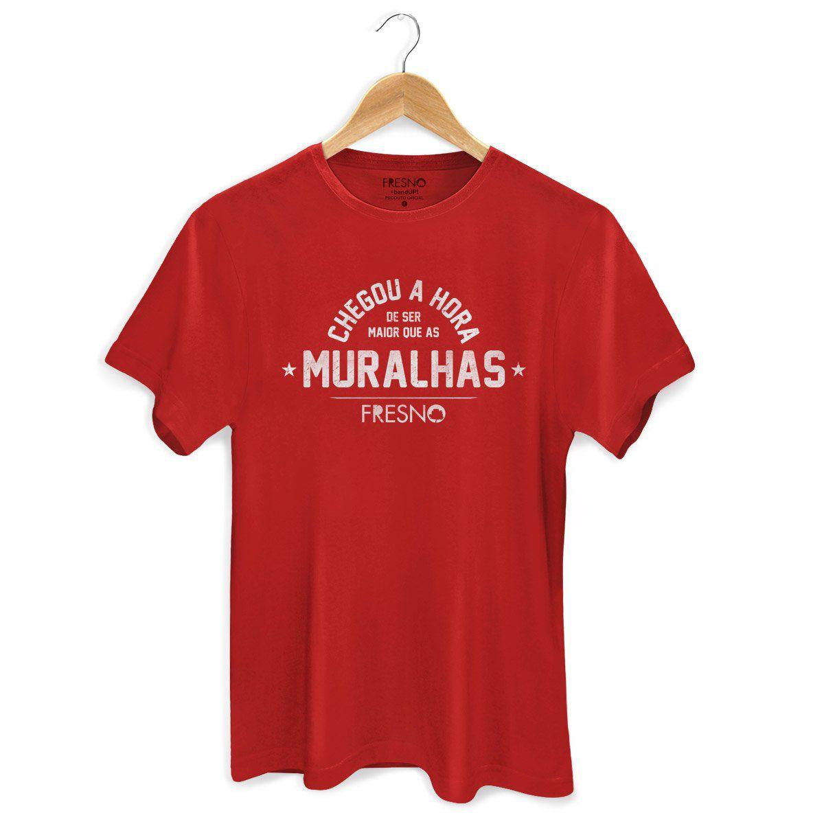 Camiseta Masculina Fresno - Chegou A Hora Vermelha