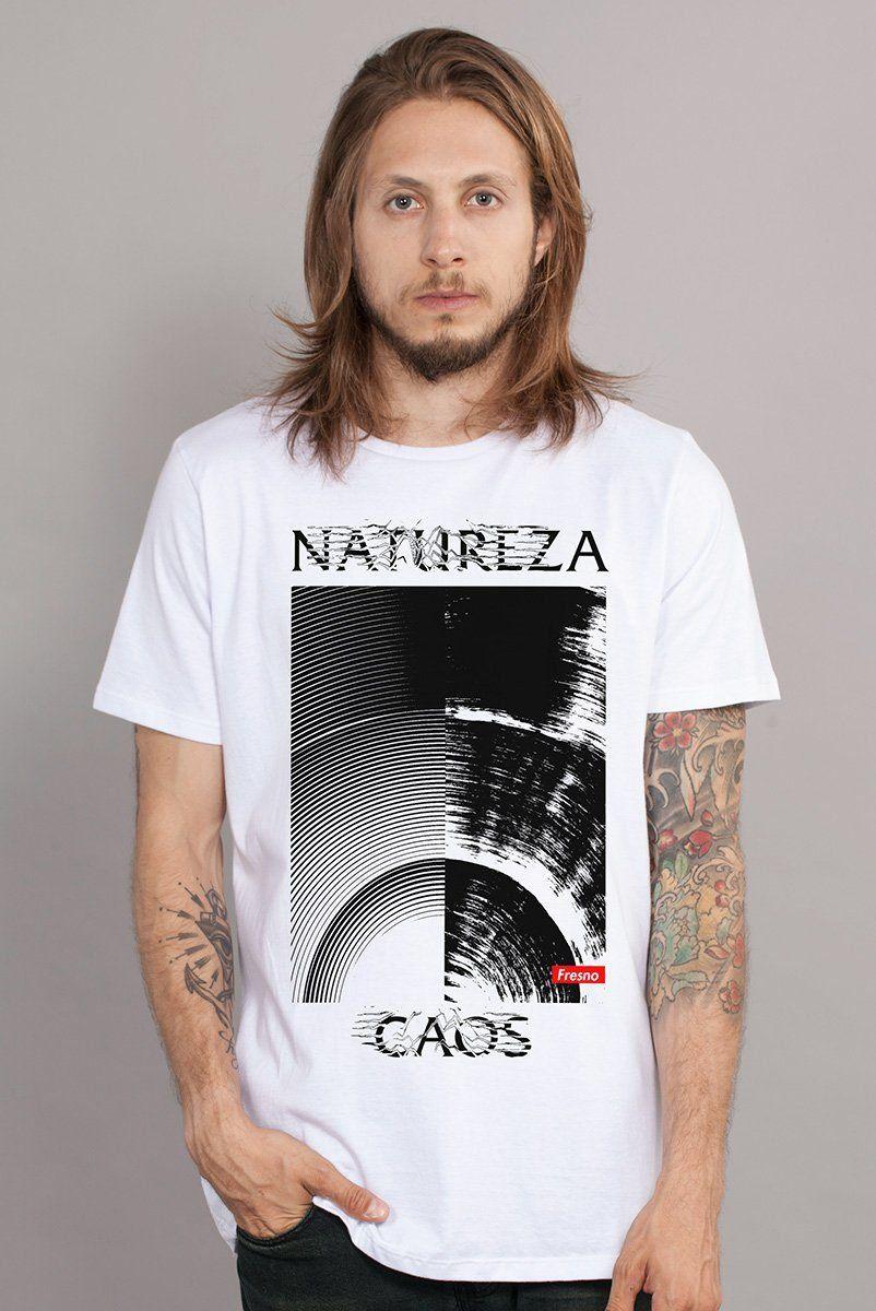 Camiseta Masculina Fresno Natureza Caos Texture